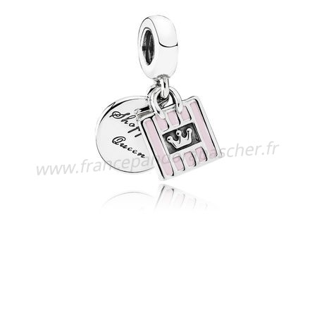 Vente Bijoux Pandora Passions Charms Chic Glamour Achats Queen Dangle Charm Soft Rose Email Pandora Magasin