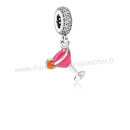 Vente Bijoux Pandora Passions Charms Chic Glamour Fruite Cocktail Charm Mixed Email Clear Cz Pandora Magasin