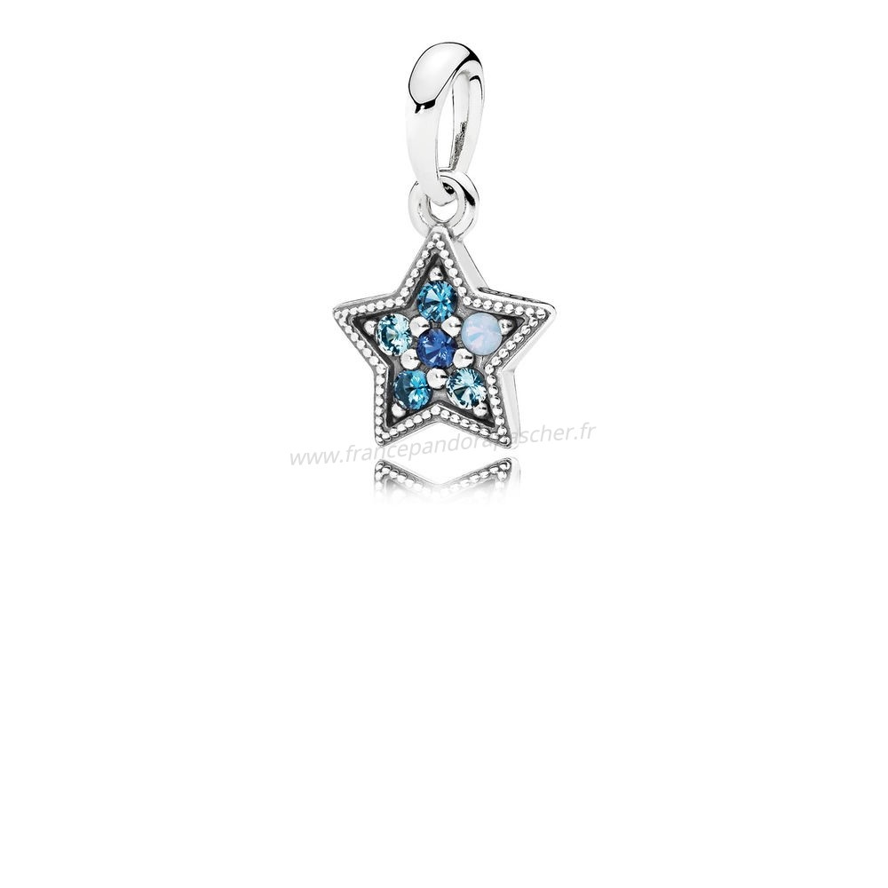 Vente Bijoux Pandora Pendentifs Bright Etoile Collier Pendentif Multi Coloured Crystals Pandora Magasin