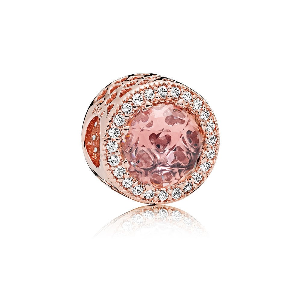 Vente Bijoux Pandora Rose Radiant Coeurs Charme Blush Crystal Clear Cz Pandora Magasin