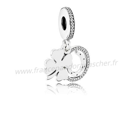 Vente Bijoux Pandora Saint Patrick'S Day Bon Chance Charms Chanceux Day Dangle Charm Clear Cz Pandora Magasin