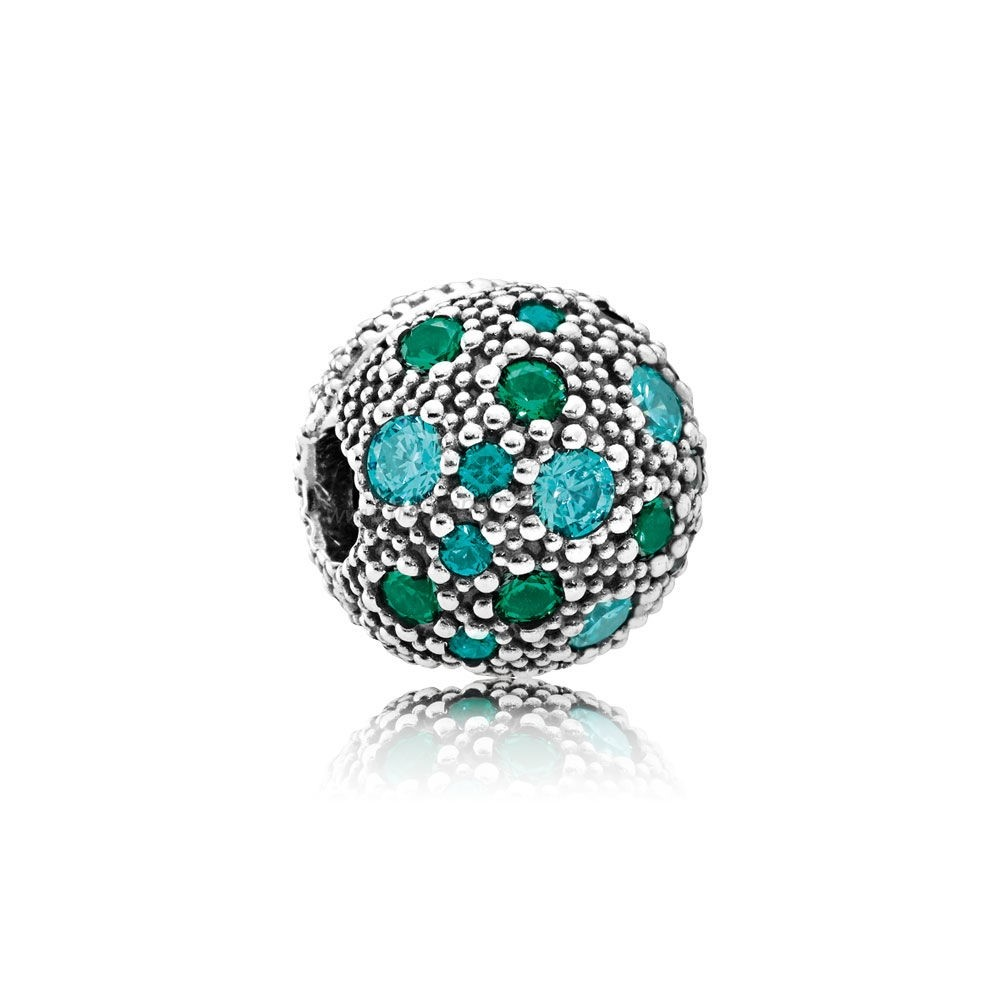 Vente Bijoux Pandora Toucher De Couleur Charms Cosmic Etoiles Multi Coloured Crystals Teal Cz Pandora Magasin