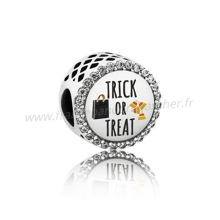 Vente Bijoux Pandora Vacances Charms Halloween Trick Or Treat Charm Mixed Email Clear Cz Pandora Magasin