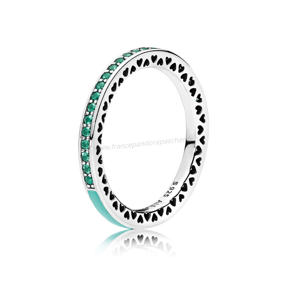 Vente Bijoux Radiant Coeurs De Bright Mint Email Royal Pandora Magasin
