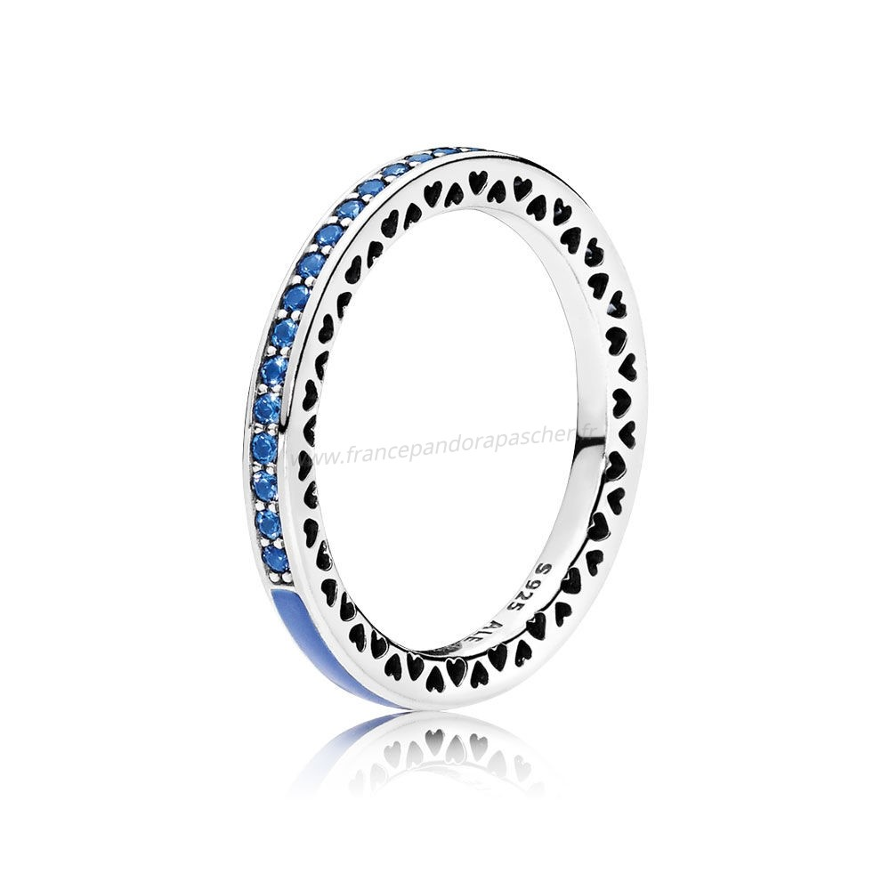 Vente Bijoux Radiant Coeurs De Pandora Bague Princess Blue Enamel Royal Pandora Magasin